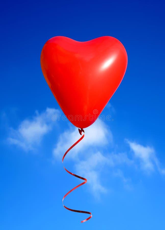Ballon de coeur de Valentine images stock