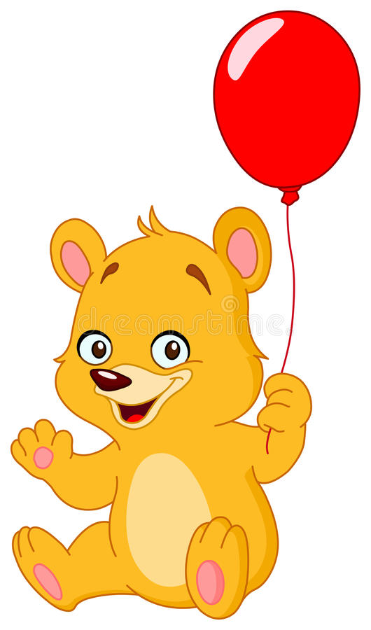 Ballon de fixation d'ours de nounours illustration libre de droits