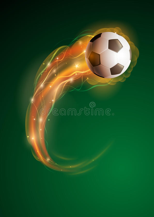 Ballon de football illustration stock