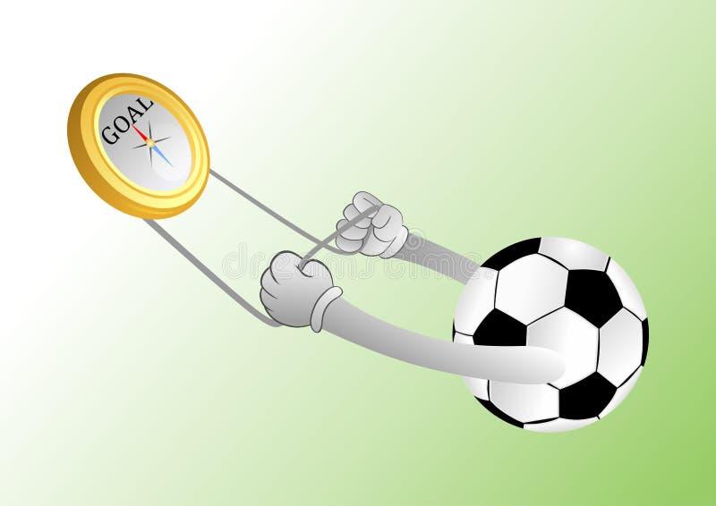 Ballon de football illustration de vecteur