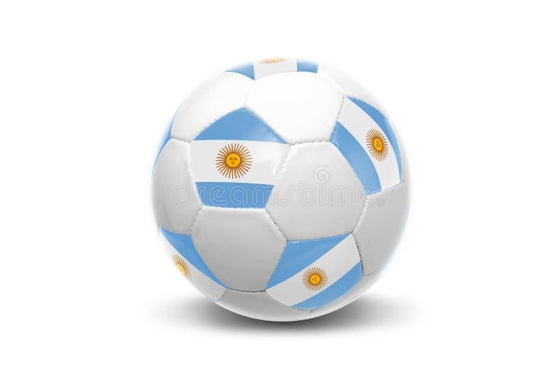 Ballon de football argentin de drapeau photo stock