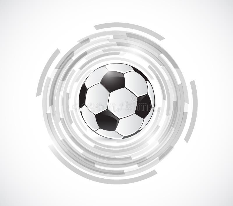 Ballon de football au-dessus des graphiques de rotation Illustration illustration de vecteur