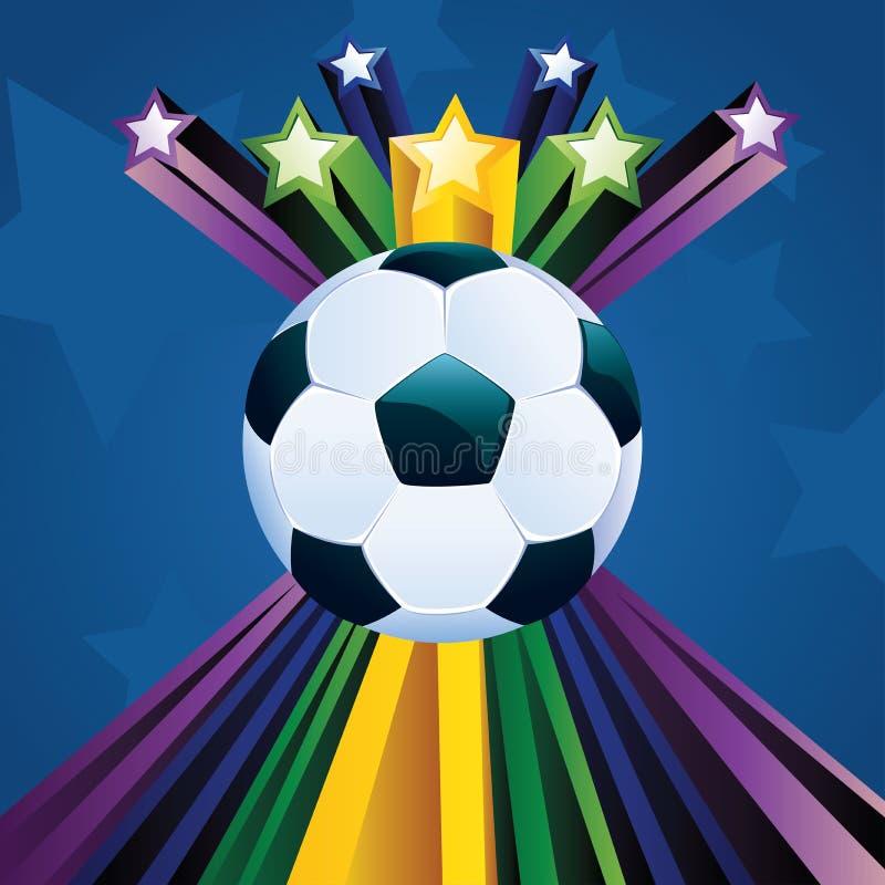 Ballon de football avec des étoiles illustration libre de droits