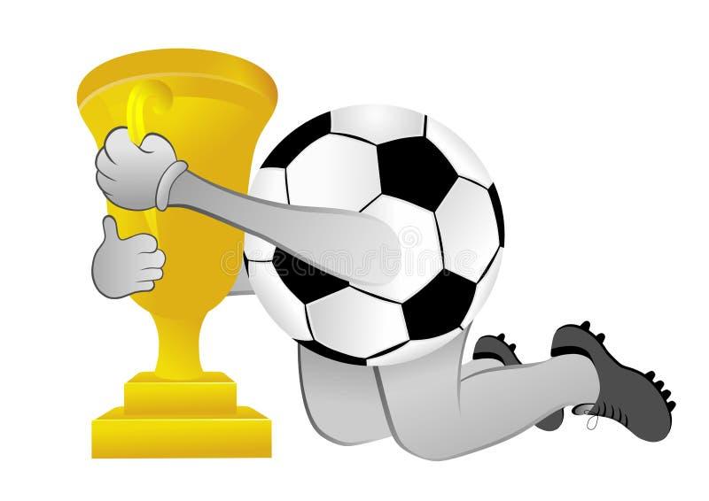 Ballon de football avec la tasse illustration de vecteur