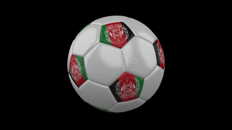 Ballon de football avec le drapeau Afghanistan, rendu 3d illustration libre de droits