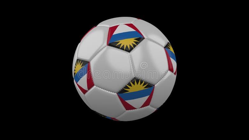 Ballon de football avec le drapeau Antigua-et-Barbuda, rendu 3d illustration de vecteur