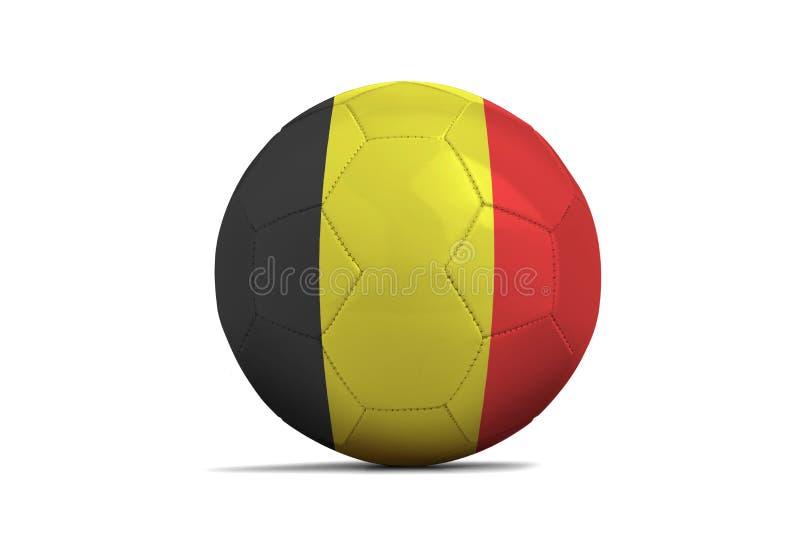 Ballon de football avec le drapeau d'équipe, Russie 2018 belgium illustration stock