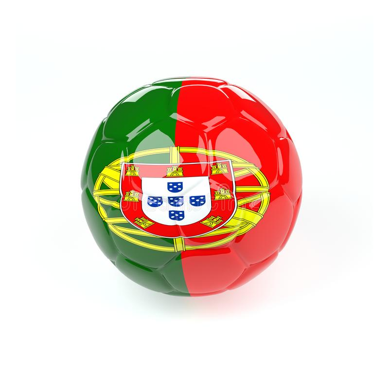 Ballon de football avec le drapeau du Portugal illustration de vecteur