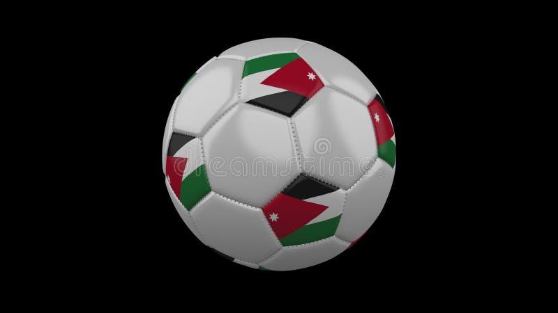 Ballon de football avec le drapeau Jordanie, rendu 3d illustration stock