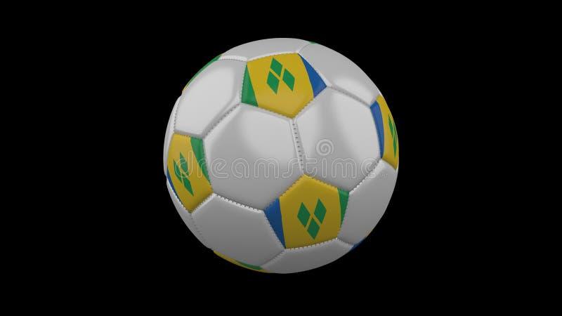 Ballon de football avec le drapeau Saint-Vincent-et-les-Grenadines, rendu 3d illustration libre de droits