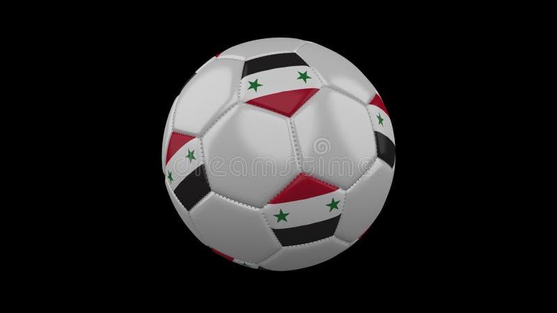 Ballon de football avec le drapeau Syrie, rendu 3d illustration libre de droits