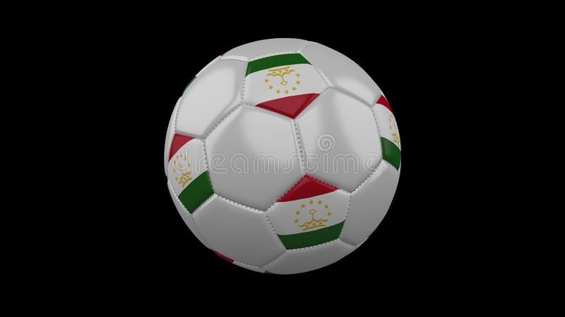 Ballon de football avec le drapeau le Tadjikistan, rendu 3d illustration de vecteur