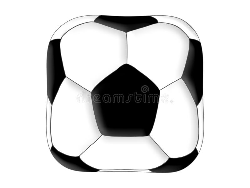 Ballon de football carré illustration libre de droits