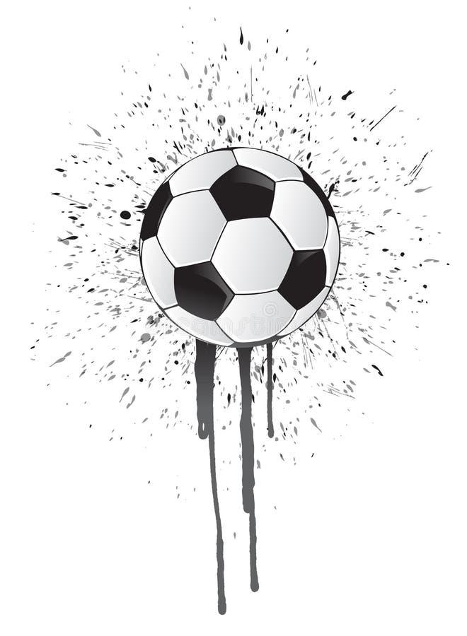Ballon de football d'éclaboussure d'encre illustration de vecteur