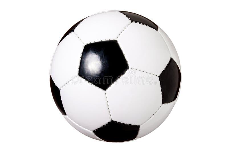 Ballon de football d'isolement, boule classique coupée et noire et blanche, le football gratuit, sur un fond blanc, facile à coup photos stock