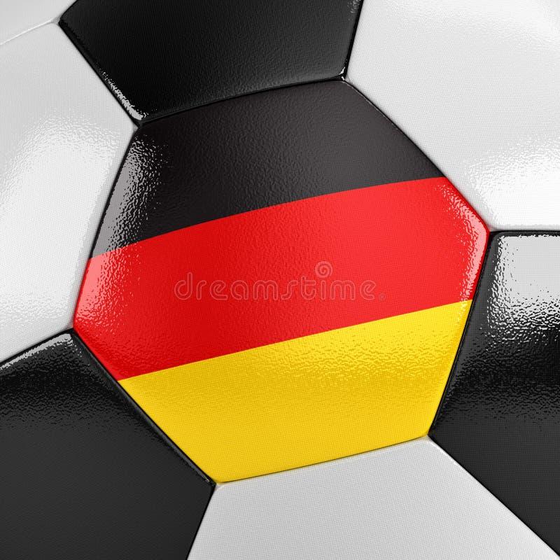 Ballon de football de l'Allemagne illustration libre de droits