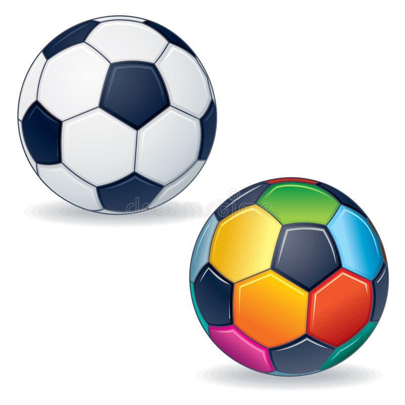 Ballon de football de vecteur illustration stock