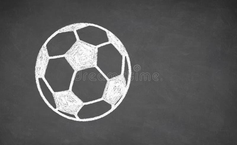 Ballon de football dessiné sur le tableau images libres de droits