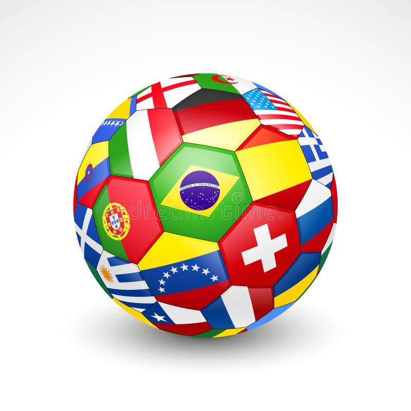 Ballon de football du football illustration de vecteur