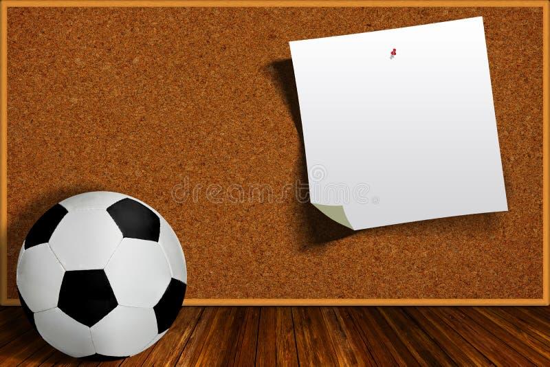 Ballon de football et Cork Board With Copy Space illustration de vecteur