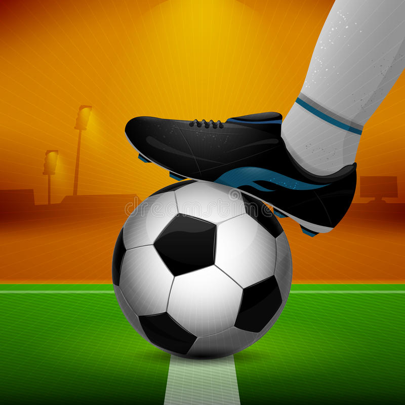 Ballon de football et crampons illustration libre de droits
