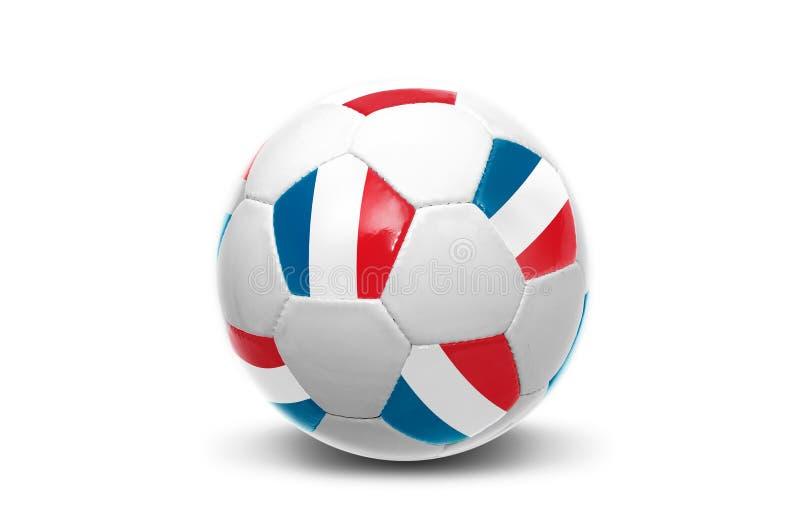 Ballon de football français de drapeau photographie stock