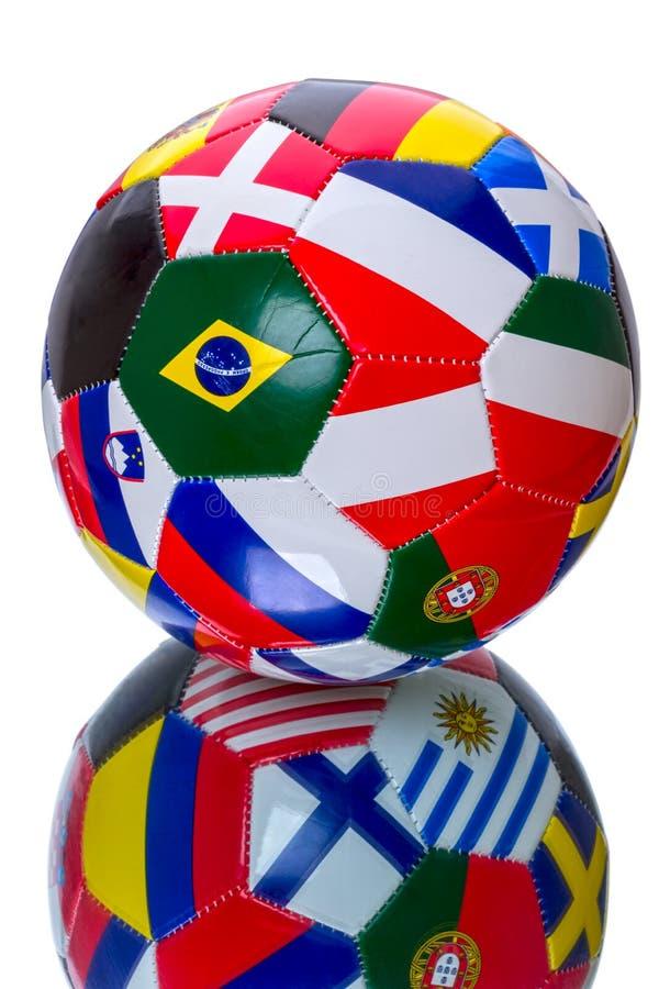 Ballon de football de souvenir images stock
