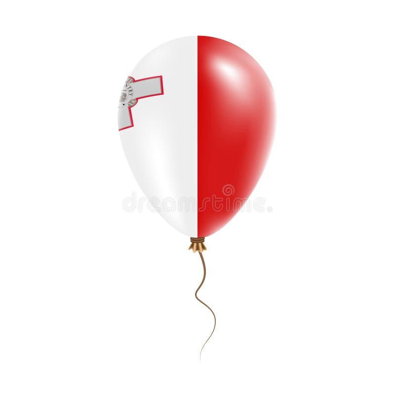 Ballon de Malte avec le drapeau illustration stock