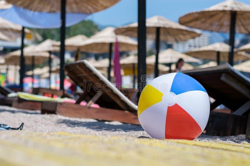 Ballon de plage image libre de droits
