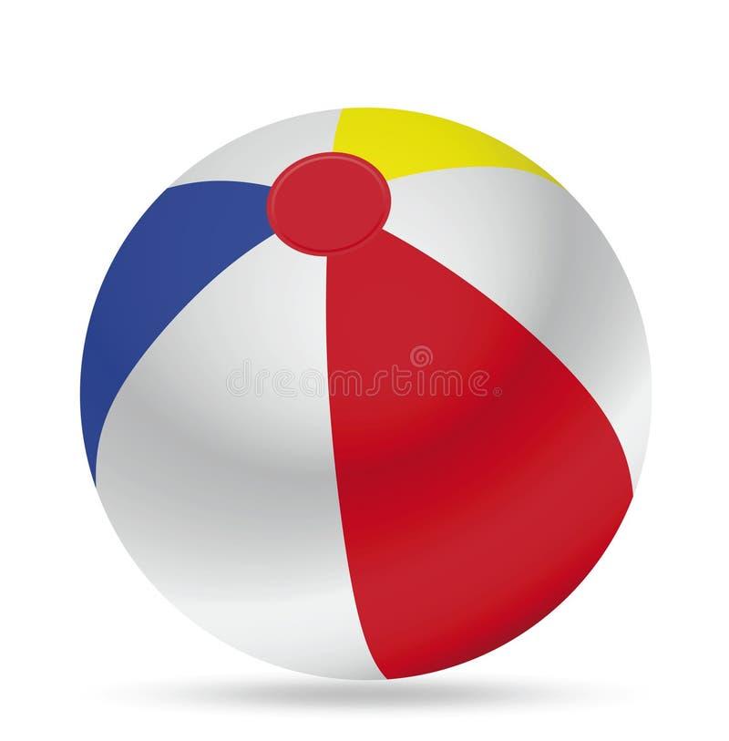 Ballon de plage illustration libre de droits