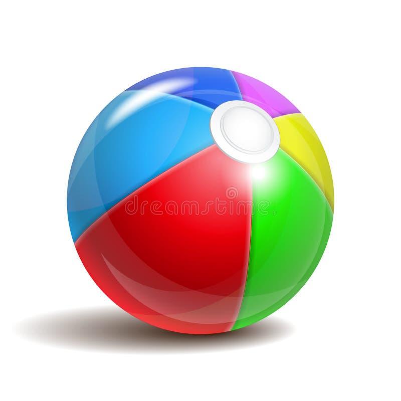 Ballon de plage illustration stock