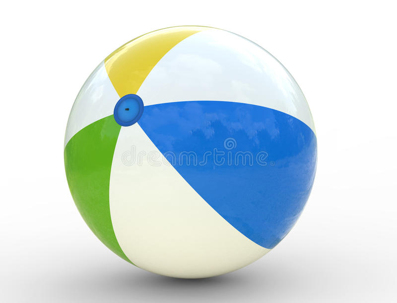 Ballon de plage illustration libre de droits