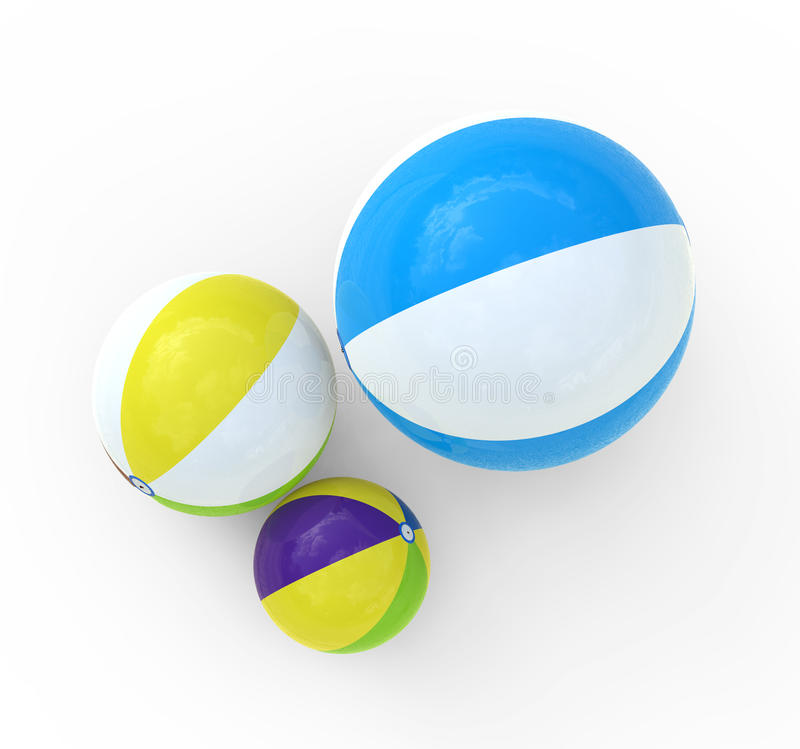 Ballon de plage illustration stock