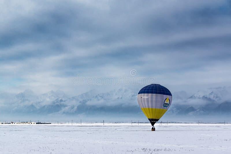 Ballon in de Tunka-Vallei stock foto's