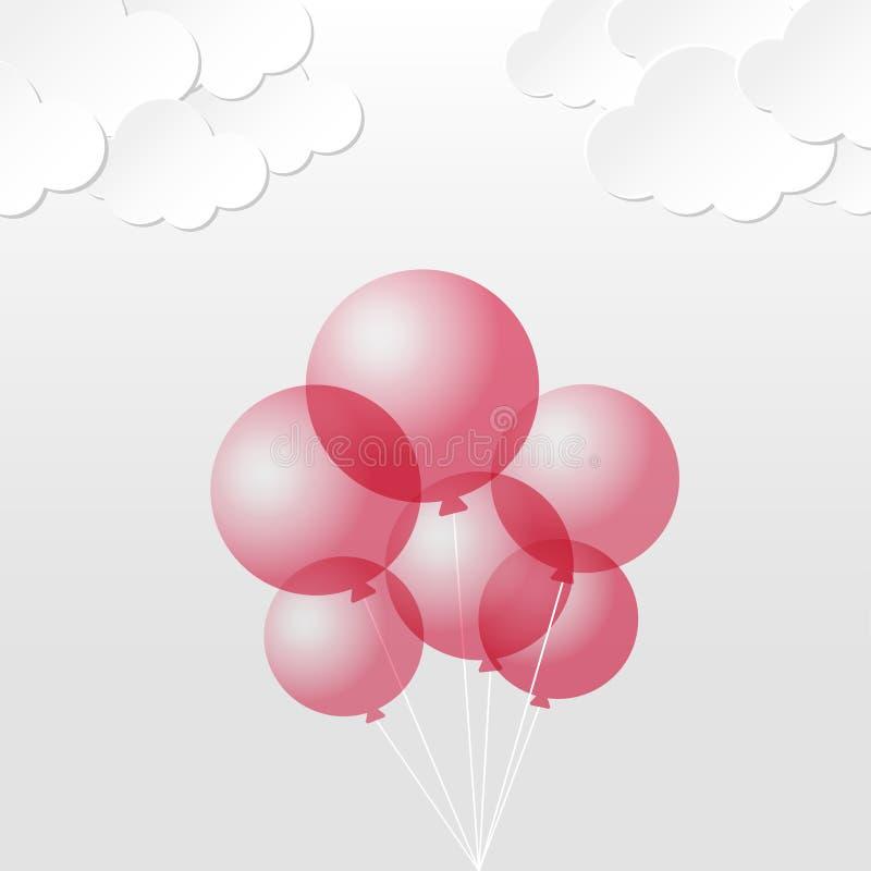 Ballon en ciel illustration libre de droits