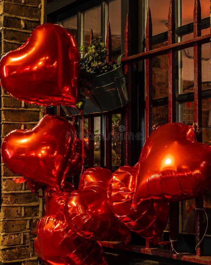 Ballon en forme de coeur pour célébrer la Saint-Valentin photo stock