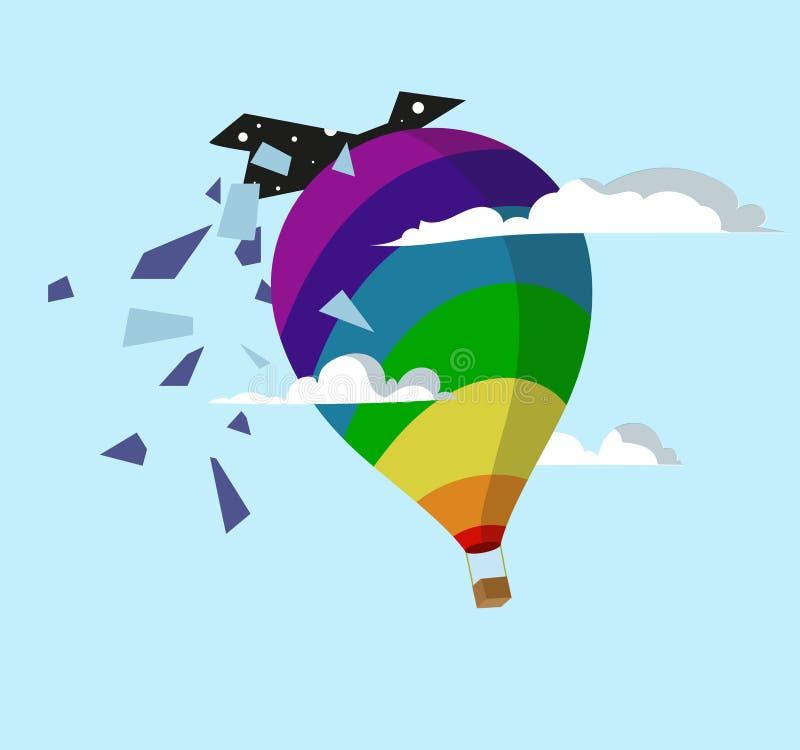 Ballon en hemel stock illustratie
