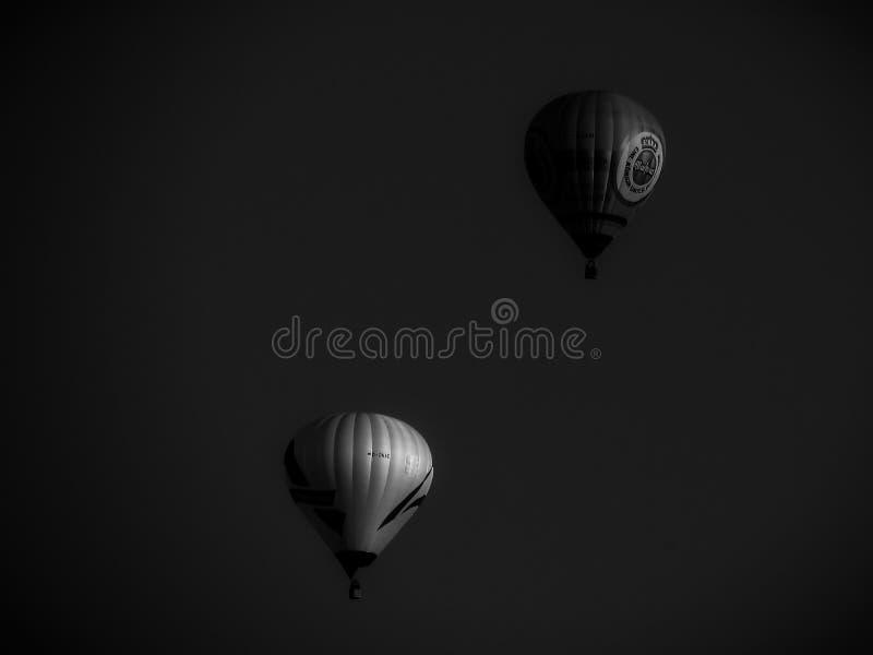 Ballon flyng BW stock fotografie