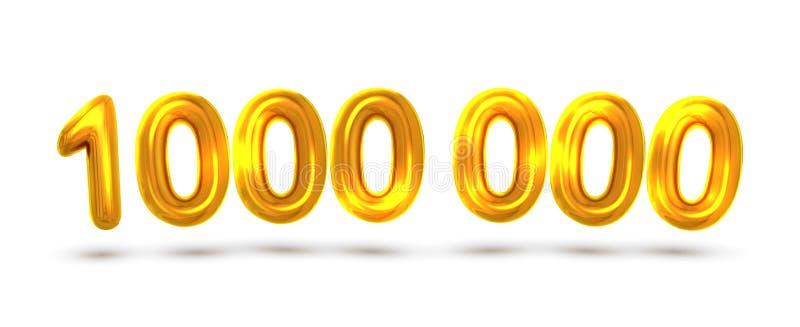 Ballon Gestalte gegeven Nummer Één miljoen Bannervector royalty-vrije illustratie