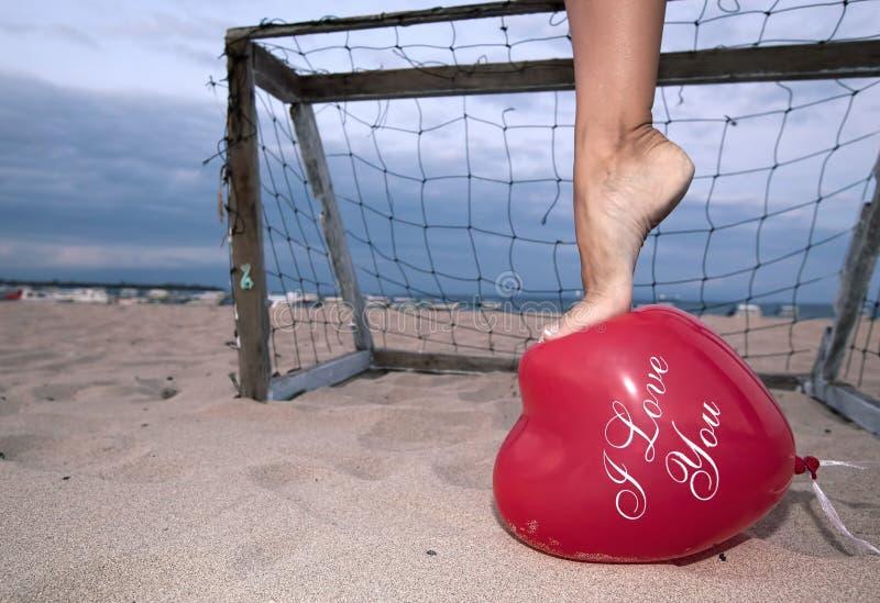 Ballon ich liebe dich lizenzfreie stockfotos