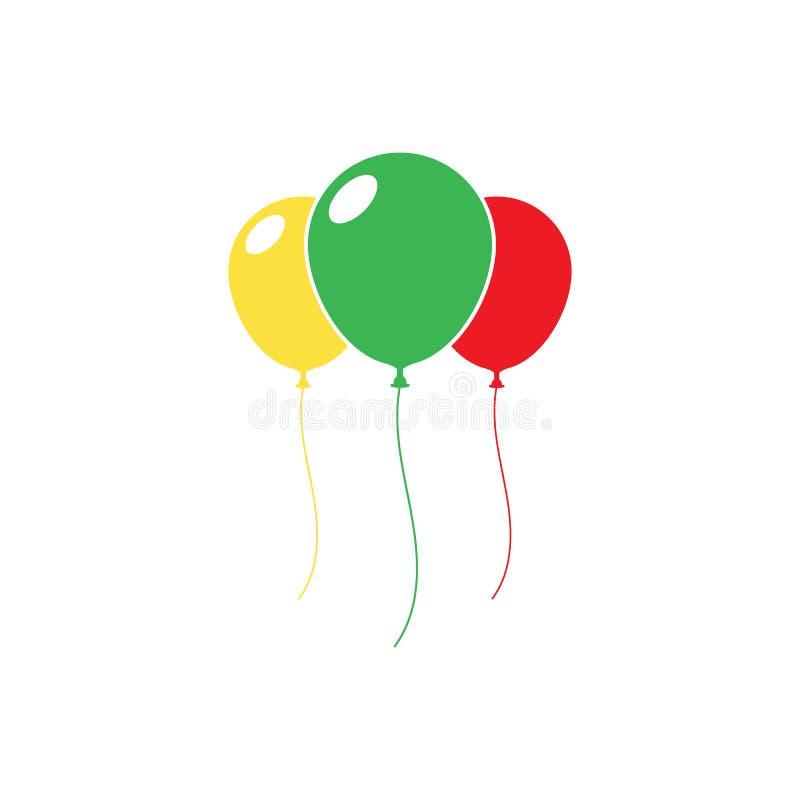 Ballon icon. Isolated on background. Vector illustration. Eps 10 stock illustration