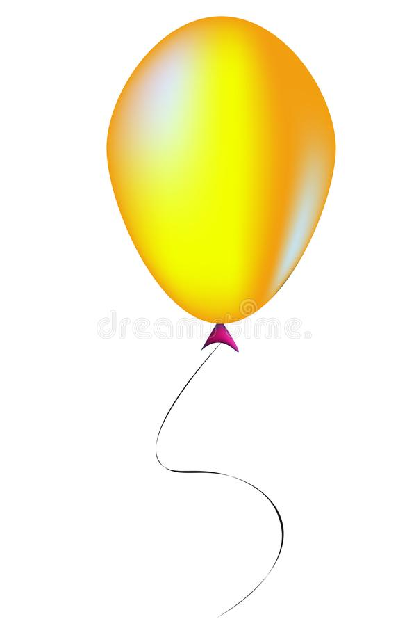 Ballon jaune - illustration image libre de droits