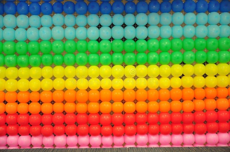 Ballon kleurrijke achtergrond stock foto's