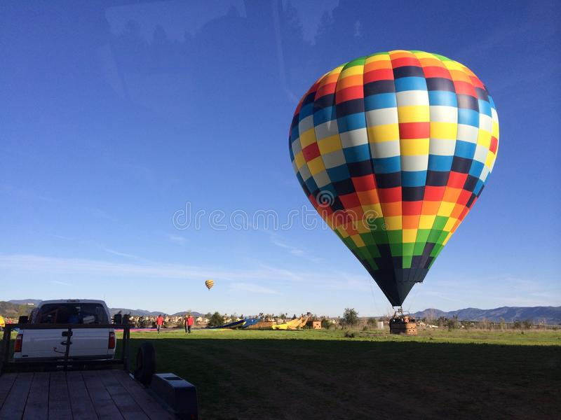Ballon in Napa stockbilder