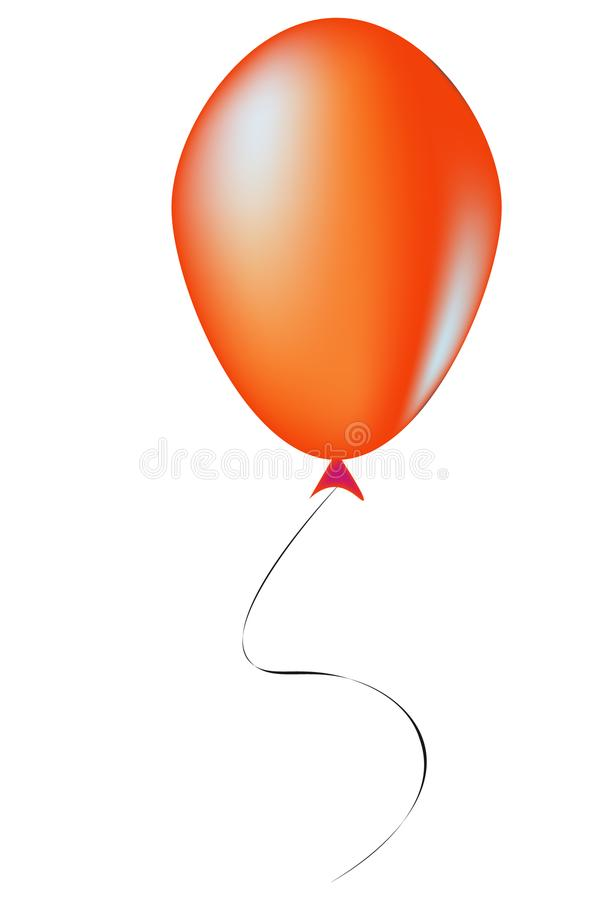 Ballon orange - illustration photos libres de droits