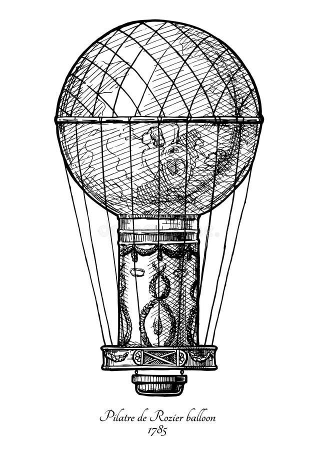 Ballon Pilatre de Rozier stock abbildung