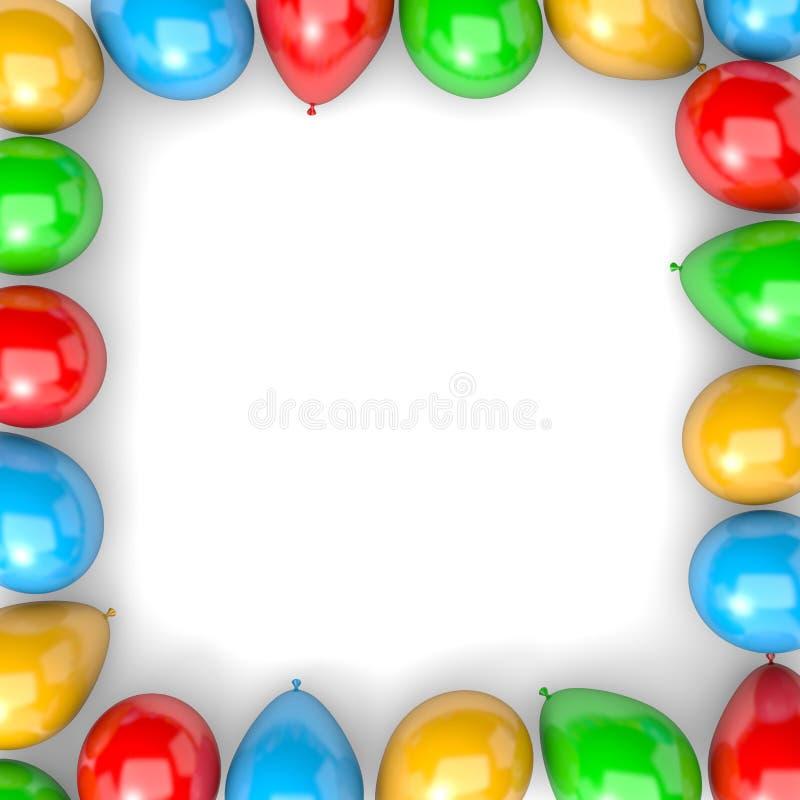Ballon-Rahmen stock abbildung. Illustration von nachricht - 53545285