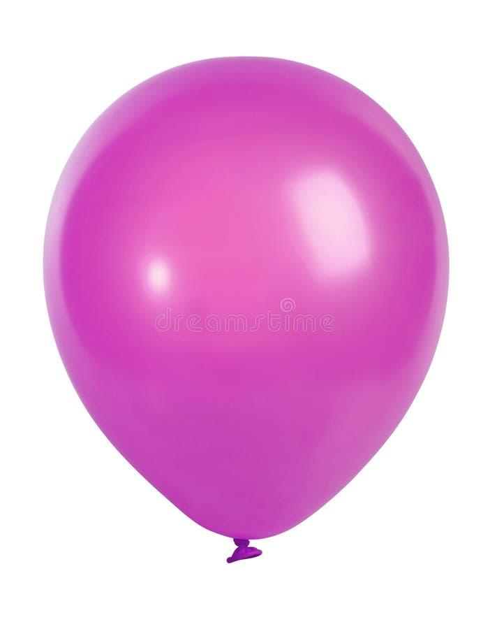 Ballon rose d'isolement sur le blanc images stock