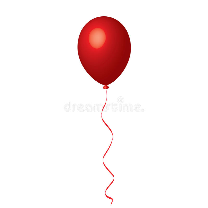 Ballon rouge illustration de vecteur