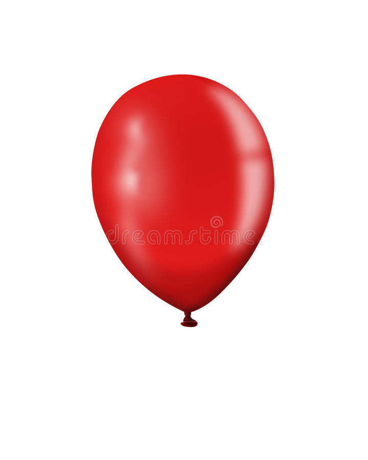 Ballon rouge illustration stock